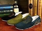 外贸新款镶钻人头图案铆钉百搭套脚鞋 奢侈欧美防水大牌男鞋 代发