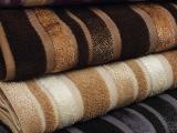 高档沙发家纺面料批发 圆机提花 欧式风格仿割绒条纹 靠垫抱枕