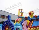 大型充气水上乐园气模玩具支架水池水上冲关水上滑梯水上浮具庙会