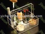 2014新款创意亚克力有机玻璃展示架 高档精美化妆品架 定制批发