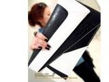 欧美潮包 蛇纹撞色信封手拿包2014新款时尚女包斜跨女士包包批发