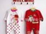 12新款春秋大码婴儿哈衣/圣诞天鹅绒连体衣服/欧美大牌红色爬服