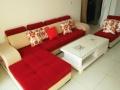 急离便宜出99新可拆洗的7字形布艺沙发和茶几