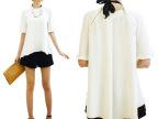 宾罗女装 2014新款春夏百搭不规则白色衬衫 女式短袖衬衫女士衬衣