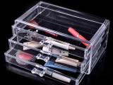 水晶透明化妆品 首饰收纳盒 三层抽屉式