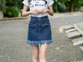 江苏常熟服装批发韩版女式牛仔裙特价批发摆地摊少女热销服装货源