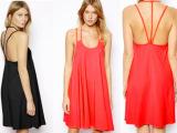 外贸款 女装 欧洲2014年夏装新款 欧美性感吊带露背连衣裙2色