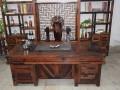 厂家直销老船木茶桌 大板商务洽谈实木茶桌 仿古实木茶桌椅组合