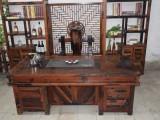 老船木茶桌椅组合实木茶台仿古功夫茶户外古典防腐家具厂家直销