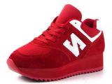 夏季新款女阿甘鞋透气休闲板鞋内增高鞋潮流时尚N字厚底松糕鞋