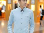 2014春秋男士长袖衬衫男装韩版修身翻领男式衬衫衬衣