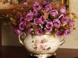 欧式陶瓷花瓶彩绘工艺品摆件高档家居装饰品创意婚庆礼品批发