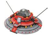 巧乐童 儿童益智拼装小颗粒积木宝宝早教玩具星际极速穿梭机2010