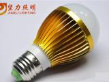 LED球泡灯 坚力照明 土豪金色铝球泡 LED bulb 灯泡光