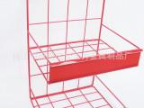 供应红色双层小展示架,商超雀巢柜台展示架,货架配件