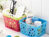 亿美新款宝宝放心无毒无味环保镂空塑料小号桌面创意置物盒收纳盒