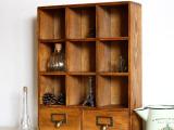 ZAKKA杂货复古做旧抽屉柜 大容量 杂物收纳柜 原木柜12格新