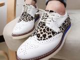 潮男新款豹纹低帮鞋韩版简约时尚夜店板鞋英伦百搭潮流流行男鞋子