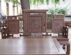 专业回收民用老红木家具雕花家具床橱沙发餐桌五件套