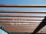 湖州周边木纹漆廊架施工 钢结构廊架仿木纹 木纹漆施工工艺