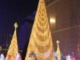 欧艺订制5米装饰圣诞树套餐商场酒店 大型框架