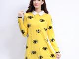 2014秋冬新款女式韩版显年轻气质长袖方领貂绒毛衣 厂家直销