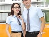夏季粗斜纹棉衬衫男短袖职业工装正装批发衬衣可定制logo