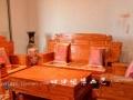 老榆木客厅沙发 财源滚滚沙发6件套