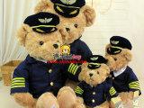 2014新品毛绒玩具空军熊 机长熊 飞行员泰迪熊 外贸玩具