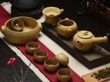 和德厂家特价直销 粗陶功夫茶具 陶瓷侧把壶仿唐粗陶茶杯批发定制