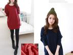 2014新款秋冬装韩版加绒加厚蝙蝠袖女装大码打底衫T恤