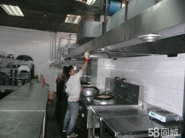 珠海酒店餐饮饭堂大型油烟机清洗,烟罩烟管风机净化器
