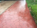 太原汾河景区广场改造压模混凝土 彩色压花路面全面换新