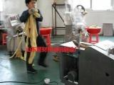 四川省广汉大豆蛋白挤出机;人造肉机,豆腐皮机生产线