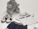 一件代发欧美大牌童装夏季男童套装儿童休闲两件套纯棉T恤牛仔裤