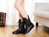 女鞋欧洲站2013秋冬新款真皮系带短靴马丁靴平底女靴子广州女鞋