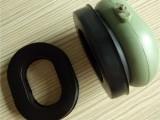 厂家生产直销 高周波热压黑色填充液体硅胶皮耳套 耳机配件批发