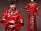 秀禾服新娘礼服红色中式复古敬酒服结婚长袖旗袍秀和服 孕妇可穿