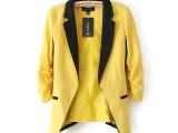 春秋新款欧美风泡泡袖时尚修身小西服 西装 外套 批发
