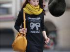 女装批发 新品韩版大码潮流印花长袖长款加绒保暖打底衫T恤3002