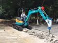 上海全市专业一米宽微型挖掘机出租 室内拆除