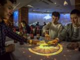成都市5D引流智能餐桌投影光影餐桌石代科技集团餐厅点餐桌子