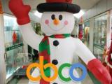 热销特价趣味大型圣诞节行走充气雪人气模圣诞狂欢装饰道具包邮