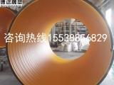 HDPE聚乙烯排污管 黑色加厚钢带增强螺旋波纹管报价