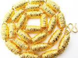 厂家直销爆款欧币龙头项链镀黄金批花款花线