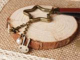 钥匙扣圈创意森系外贸复古欧美小清新小兔子皮金属珍珠钥匙扣圈