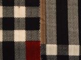 新款针织弹力罗纹格子印花面料 细毛线服装