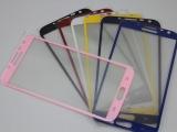 批发三星note 2钢化玻璃膜三星7100钢化彩色膜保护颜色贴膜