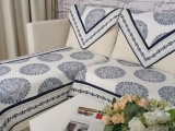 924 素雅青花瓷全棉面料 绗缝沙发坐垫 沙发垫 沙发巾套盖水洗