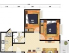 凯茵豪园带装修2房出租,保养好房间干净整洁,居住舒适